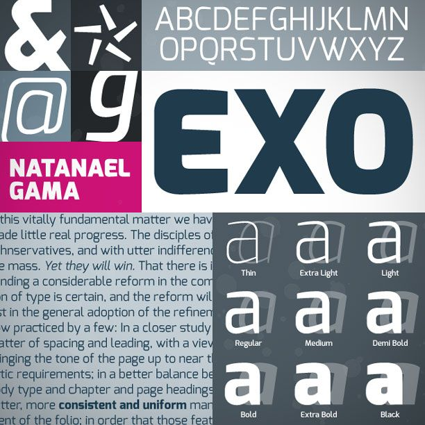 Exo | Free Font for Personal & Commercial Use