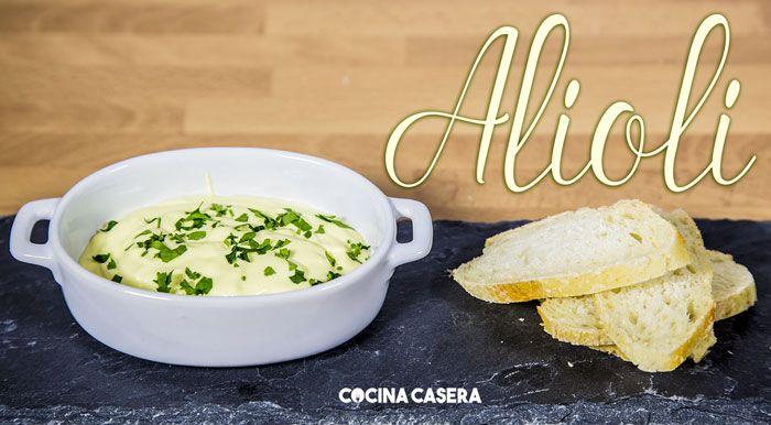 Salsa alioli - Recetas de Cocina Casera - Recetas fáciles y sencillas