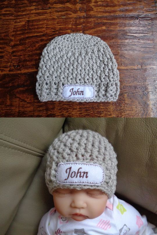 Baby Accessories 163222  Crochet Personalized Newborn Baby Hat (0-3 Months)  -  BUY IT NOW ONLY   15.99 on  eBay  accessories  crochet  personalized   newborn 352d7e989cf