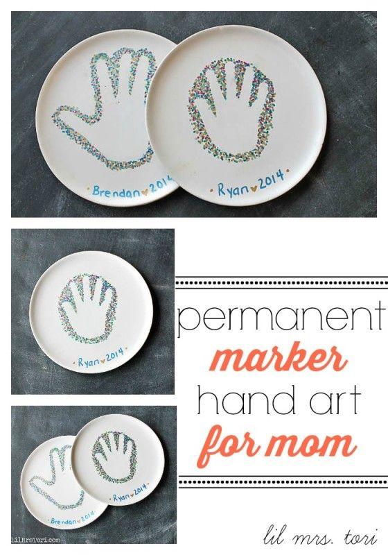 Permanent Marker Handprint Art {Lil Mrs Tori}