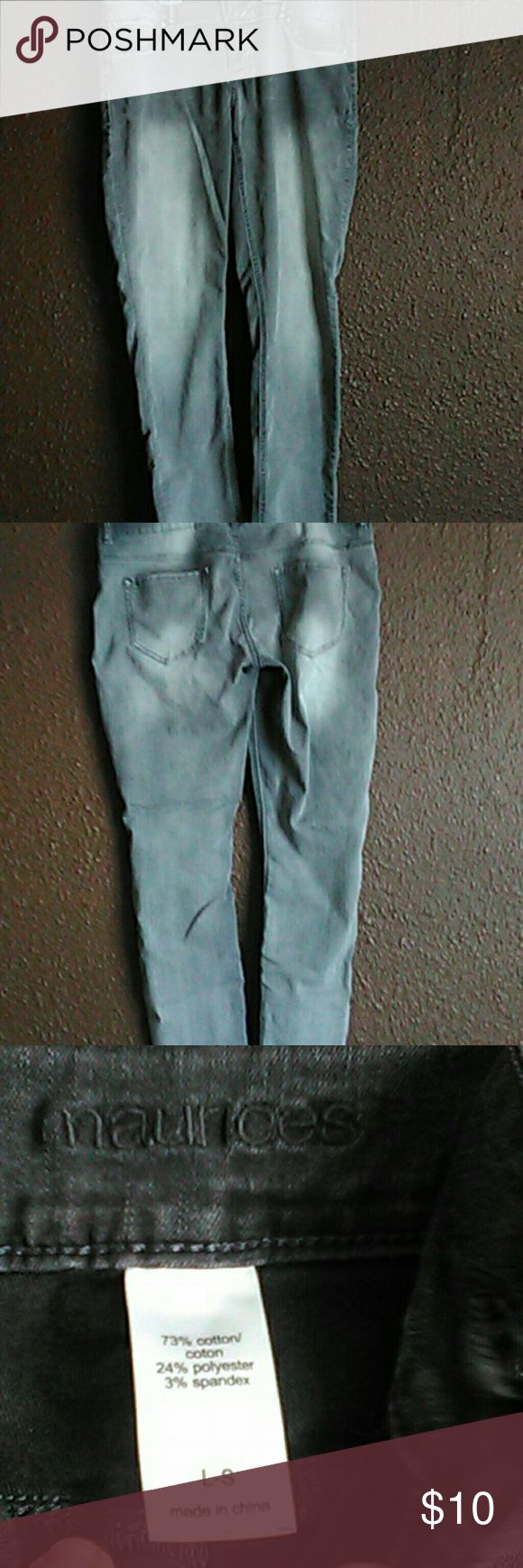 Gray jeggings Women's jeggings from Maurices like new bought them last year then couldn't wear them because of pregnancy like new condition Maurices Pants Leggings