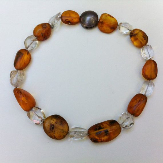 Collar  Baltic Amber  Fossilized Inclusions  by BluePearEmporium