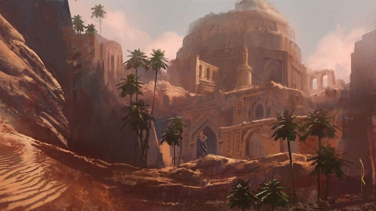 Uncharted 3 - Robh Ruppel - Ditched design ideas, unused areas and concept art : Sandlantis Dome This aboveground version of Sandlantis is more in line with the final version, which ended up being hidden in the eye of a raging sandstorm.