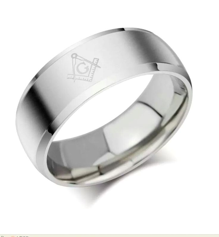 Silver Masonic Stainless Engraved Symbol Stainless Steel Ring Various Sizes | eBay