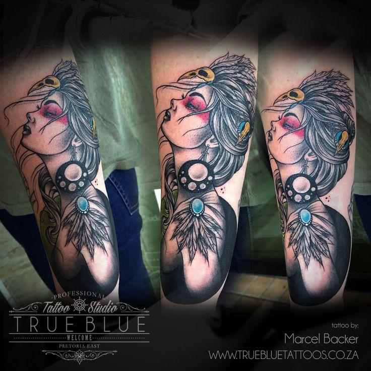 """""""Wind & Dancing""""by Marcel Backer of True Blue Professional Tattoo Studio"""