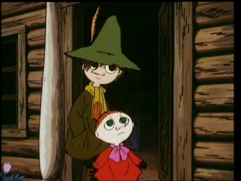 Snufkin and Little My.  If Moomins were a recent creation, I would be convinced Little My was based on me.