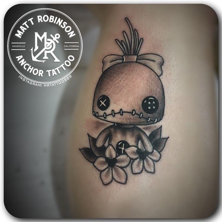 Funko Pop Lilo and Stitch Scrump tattoo by Matt Robinson of Anchor Tattoo in Vacaville CA