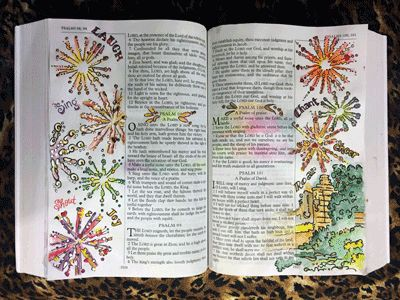 Top five Bible Journaling websites and day 5 of Christmas in July Craft challenge. photo courtsey of CBJ