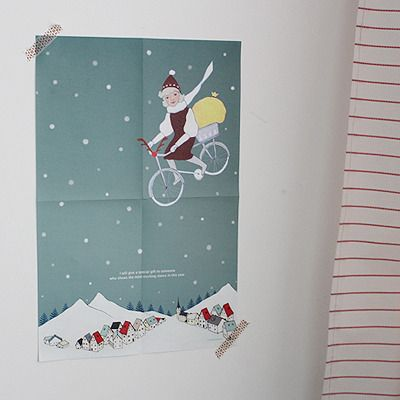 message poster-Special Gift / christmas illustration