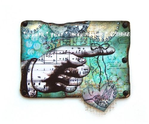 *a gentle reminder* atc artist trading card aceo vintage paper original collage   Flickr - Photo Sharing!