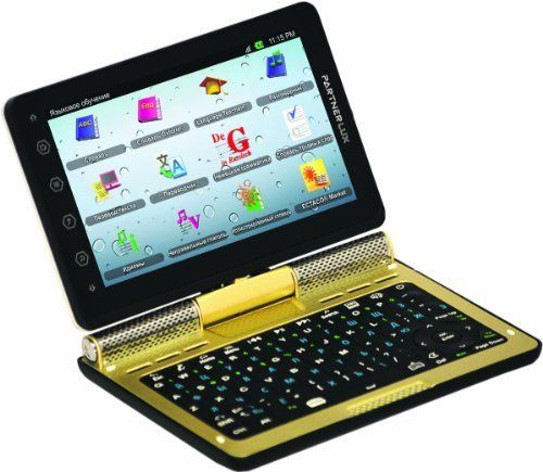 Ectaco Partner LUX. English - Russian 2 Way Free Speech Translator & Language Teacher. Speech Recognition Communicator. 5' Android Tablet with Keyboard. Electronic Dictionary by Ectaco. $449.95. Two-Way Voice Translator for easy communication. Interactive Language Teaching programs immerse you in the language. Talking Dictionary with over 1,200,000 words. Easy To Use 5 color touch screen and full physical keyboard. Wi-Fi Enabled: Access to over 400,000 apps in Androi...