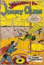 JIMMY OLSEN (1954)  2 APP GD/VG £125 Trimmed right edge; glued spine.