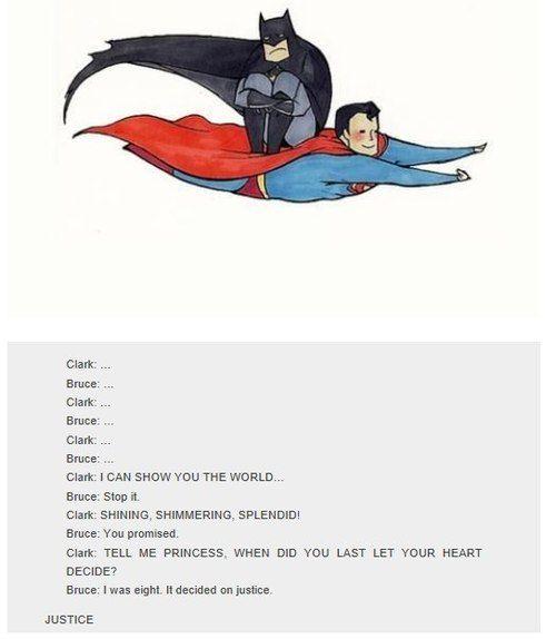 superman and batman haha