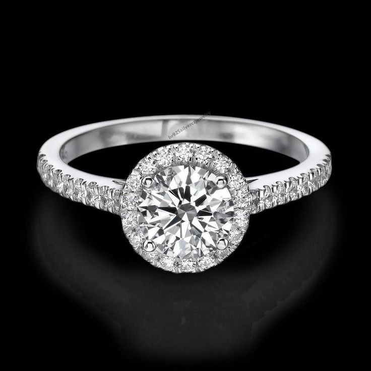 D/VVS1 Diamond Engagement Ring 2 Carat Round Cut 14K White Gold Bridal Jewellery #br925silverczjewelry #SolitairewithAccents #WeddingAnniversaryEngagementBirthdayParty