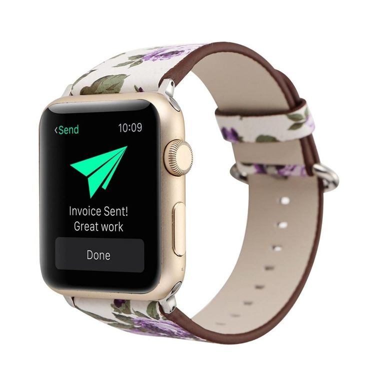 Rokment Floral Leather Strap Replacement Watch Band For Apple Watch 42mm 160-225MM (C). Softness is moderate, wear very comfortable. Compression molding, sturdy and durable. The size can be adjusted according to the circumstance of individual wrist. Compatible For Apple Smart Watch 1/2. Package Include: 1x Premium Leather Replacement Strap for 42mm Apple Smart Watch.