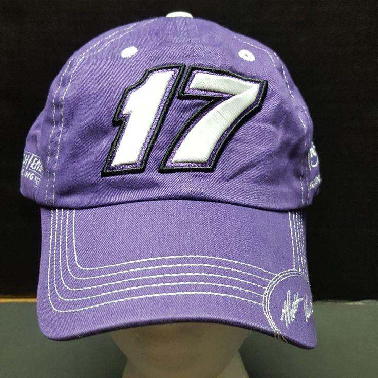 Nascar Hat Roush Fenway Racing #17 Matt Kenseth  Purple Strapback  Hat One Size #Checkeredflag #RoushFenwayRacing