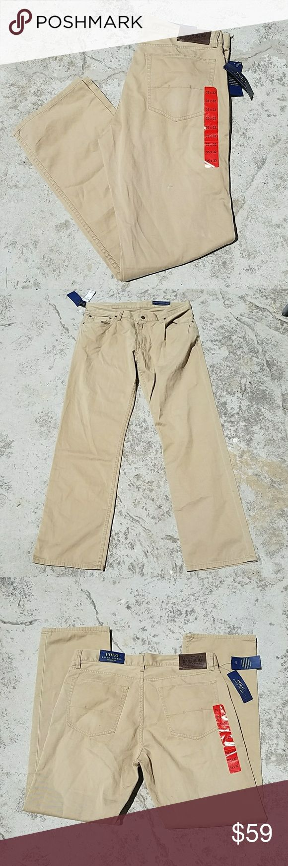 Polo Ralph Lauren Tan Straight Fit Pants 35X32 Tan POLO RALPH LAUREN Pants that have a straight fit. 100% Cotton for a perfect fit! TOTE 1 Polo by Ralph Lauren Pants Chinos & Khakis