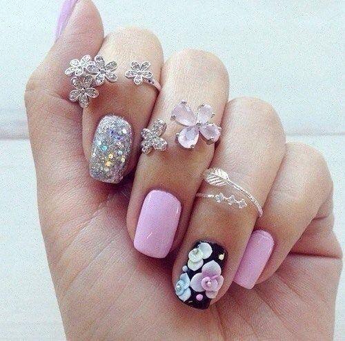 Summer nail art : 3D nail art - Reny styles
