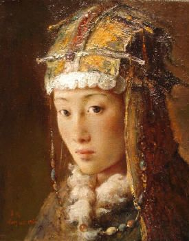Tang Wei Min (Chinese: 1971) | Silk Road 31  (please also see more paintings by the artist on board 'Asian art'.