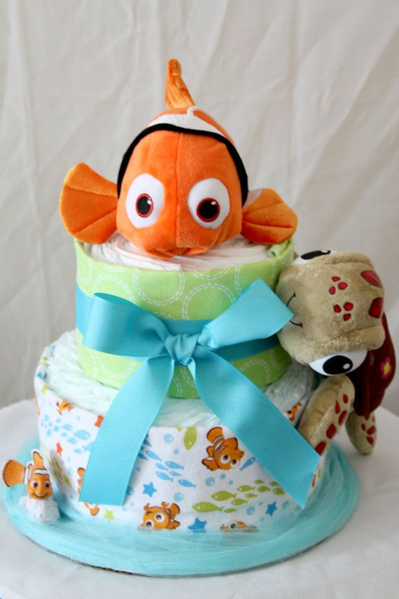 Finding Nemo Diaper Cake by MckayCakesnCrafts on Etsy