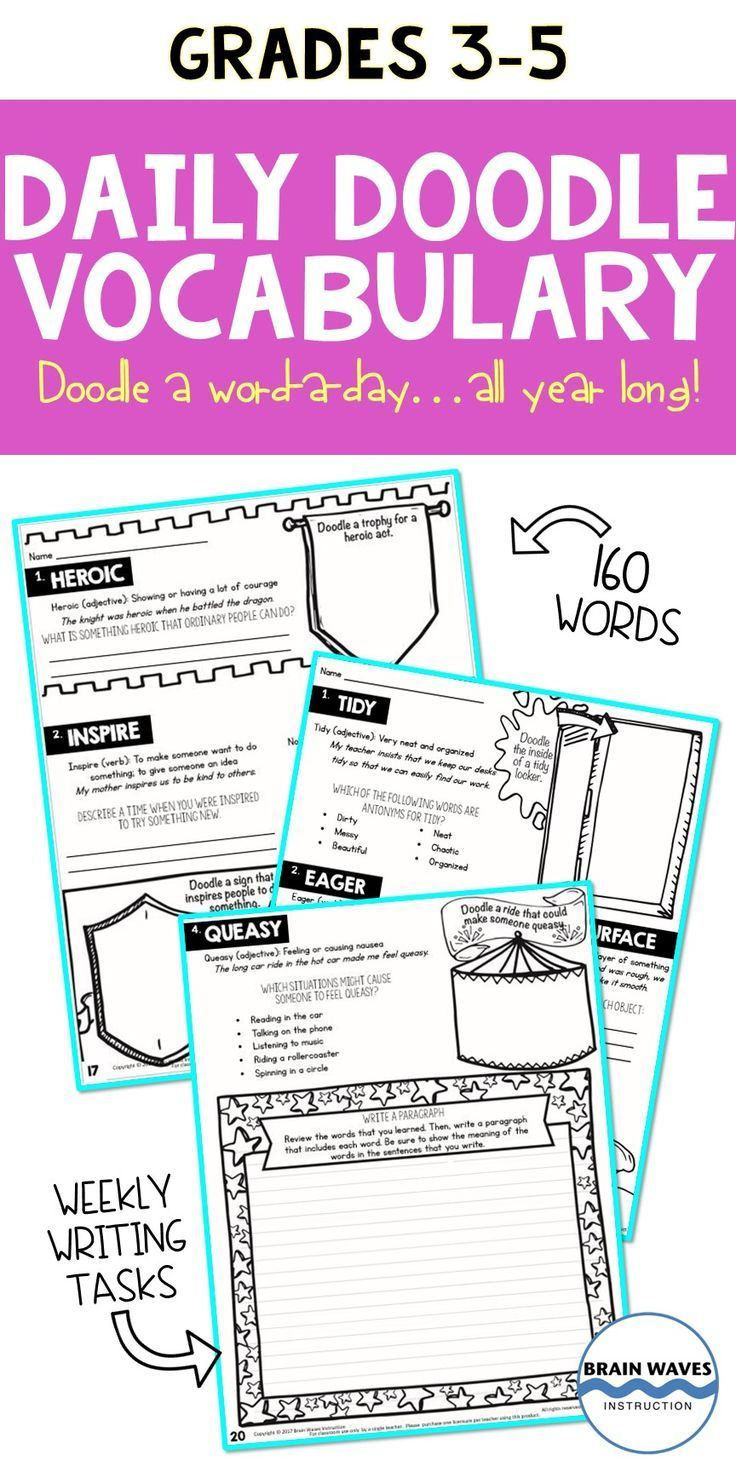 Daily Doodle Vocabulary - Vocabulary Doodles and Writing ...