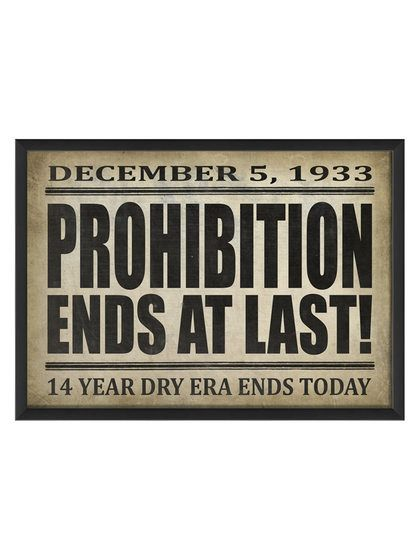 Large Prohibition Ends at Last II (Framed) by The Artwork Factory at Gilt