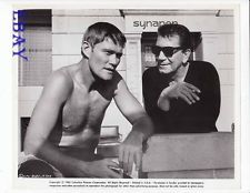 Chuck Connors barechested, Richard Conte VINTAGE Photo Synanon candid on set