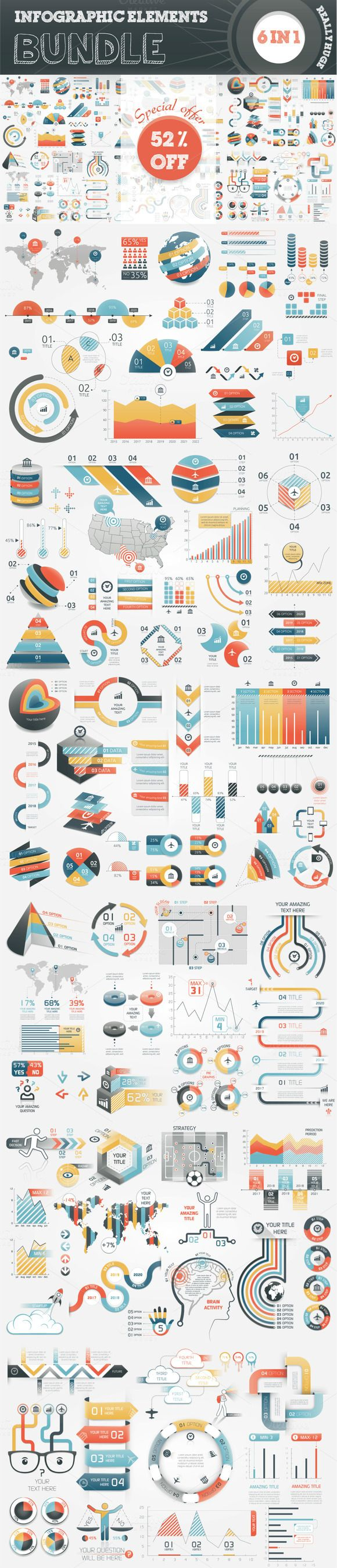 52% OFF Infographic Bundle by Infographic Paradise on @creativemarket