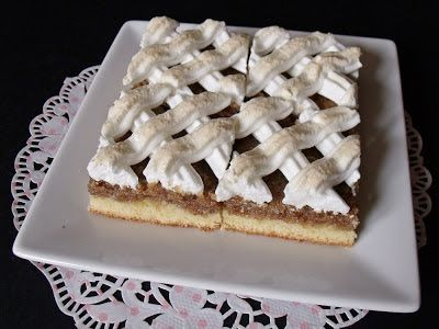 Citromhab: Habos diós sütemény