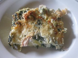 Almost Wasted: Grilled Chicken, Spinach and Artichoke Lasagne