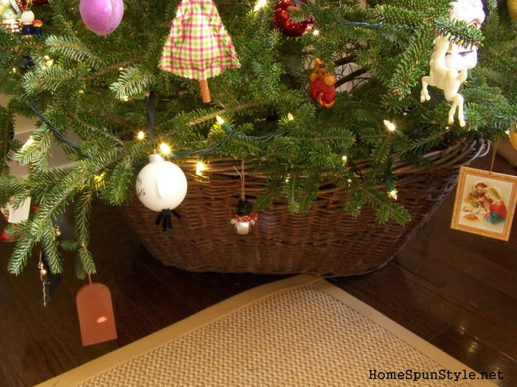 For the past several years, we've opted to use a large galvanized tub in place of a tree skirt for our Christmas tree  We would simply put the tree stand in the tub and then set the tree in t…