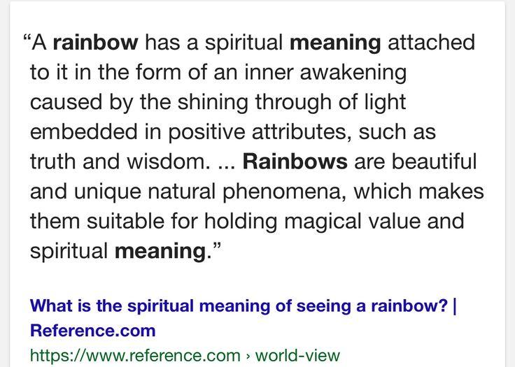 What do rainbows mean
