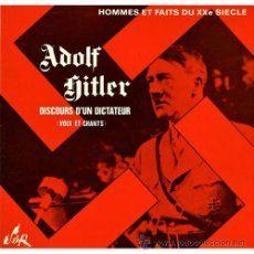 ADOLF HITLER, DISCO LP, AÑO 1970 CON SUS DISCURSOS,EDITADO EN FRANCIA,FOTOS Y FIRMA III REICH,NAZI