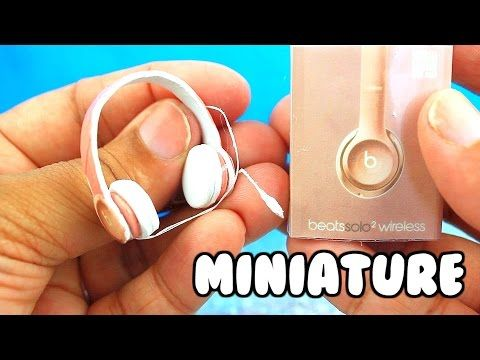 DIY MINIATURE BEATS by DRE HEADPHONES! | for barbie, monster high, LPS, AG and more - YouTube