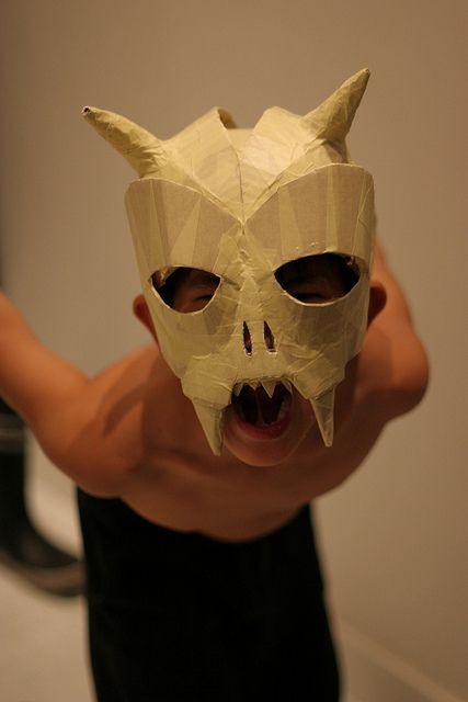 Cardboard and tape Skull Mask | Flickr - Photo Sharing!