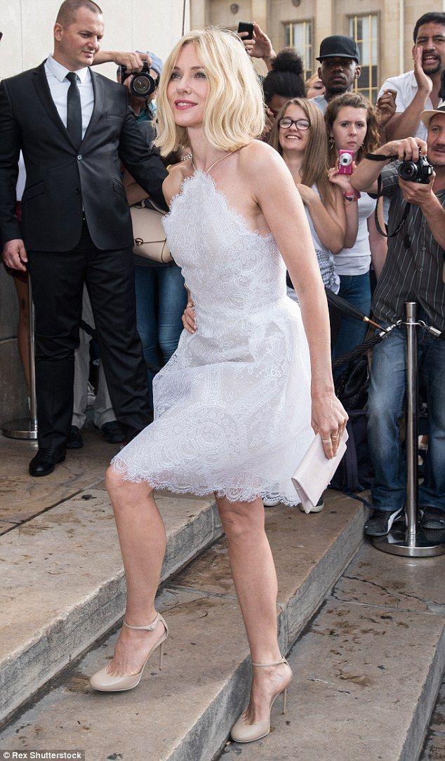 Naomi Watts (46) in Armani Prive Haute Couture dress - Armani Prive show @ Paris Haute Couture Fashion Week. (7 July 2015)