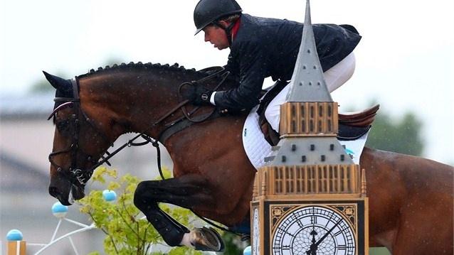 Nick Skelton of Great Britain rides Big Star #showjumping
