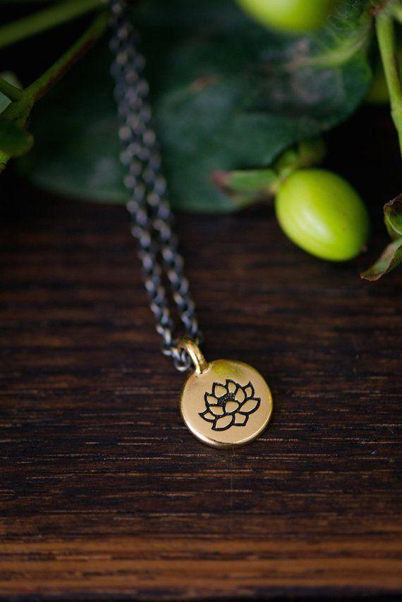 lotus . a soul mantra necklace by lizlamoreux on Etsy