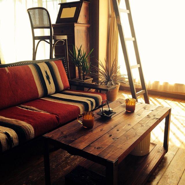 keisuke.sさんの、メキシカンラグ,DIY,リメイク,ニトリソファリメイク,ニトリ,ソファ,Overview,のお部屋写真