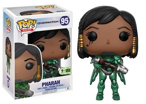 Overwatch: Emerald Pharah Pop figure by Funko, 2017 Emerald City Comicon exclusive