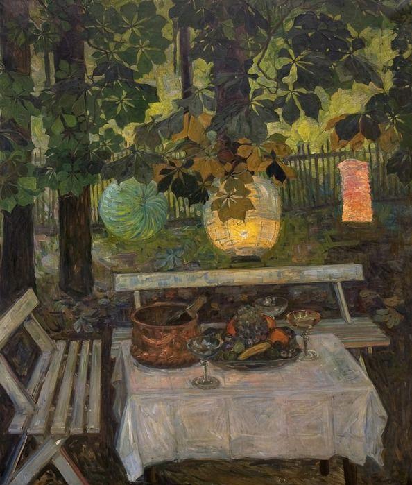 Still Life' by Thorolf Holmboe, 1907 http://pinzelladablava.blogspot.com/2010/08/farolillos-chinos-en-la-pintura.html
