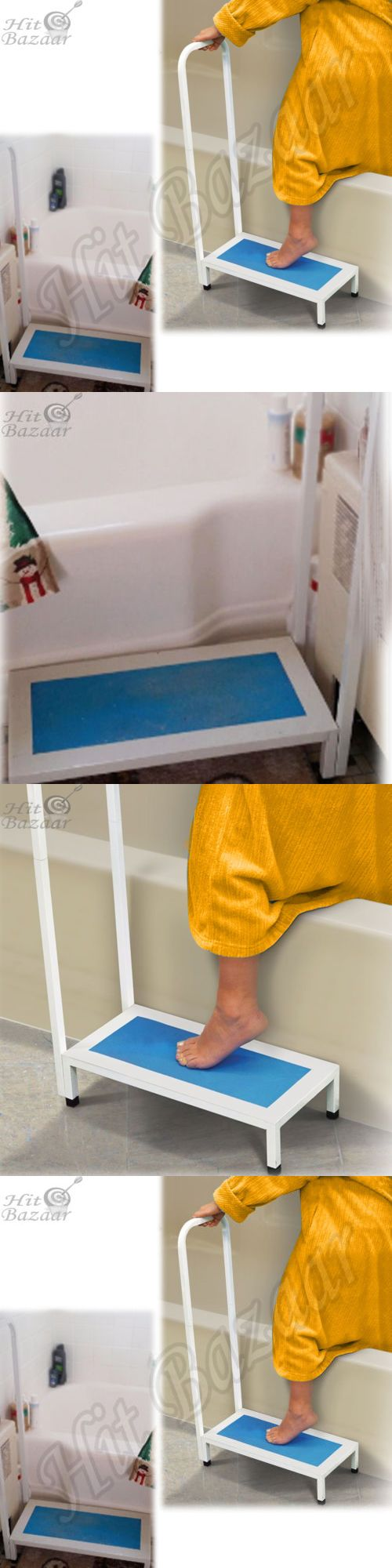 Steps and Stairs: Bath Step Shower Bathtub Non Slip Grip Handle Support Bathroom Elderly Safety BUY IT NOW ONLY: $51.32