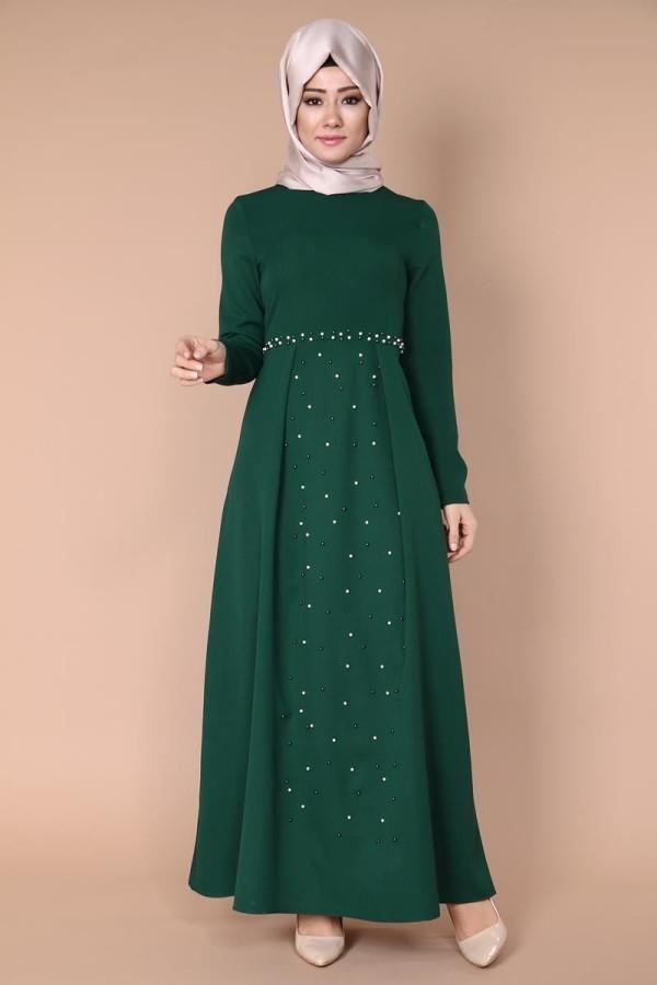 What a Green dress    tall 146 - normal size - wash on 30 C degree  O-Benn Sahinler  Code : obn212 GREEN   #abaya #jilbab #muslimahwear #muslimah #muslim #hijabers #hijabfashion #Hijablooms  #dress