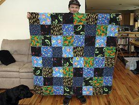 jen yu: flannel rag quilt