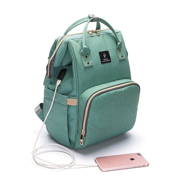 USB Charger Lager Capacity Mummy Multifunction Backpack Nappy Outdoor Bag Travel Backpack Designer Nursing Bag for Baby Care