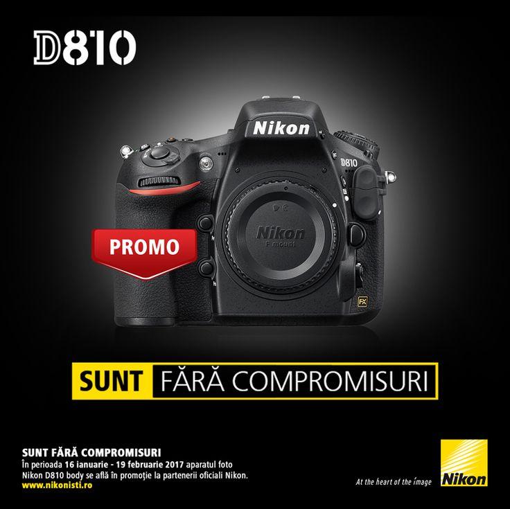 In perioada 16 ianuarie - 19 februarie 2017 aparatul foto DSLR NIKON D810 body se afla in promotie la partenerii oficiali Nikon