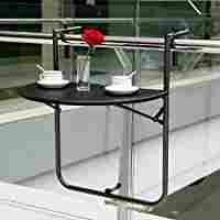 Amazon.com : IKAYAA Adjustable Folding Balcony Deck Table Hanging Patio Railing Table : Patio, Lawn & Garden