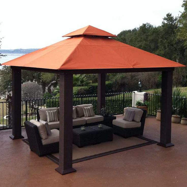 17 best images about patio on pinterest keep in mind for Outdoor furniture gazebo