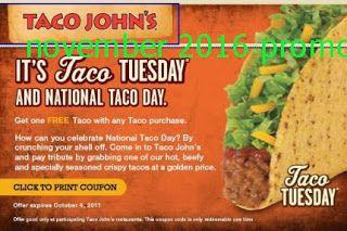 Taco Johns Coupons