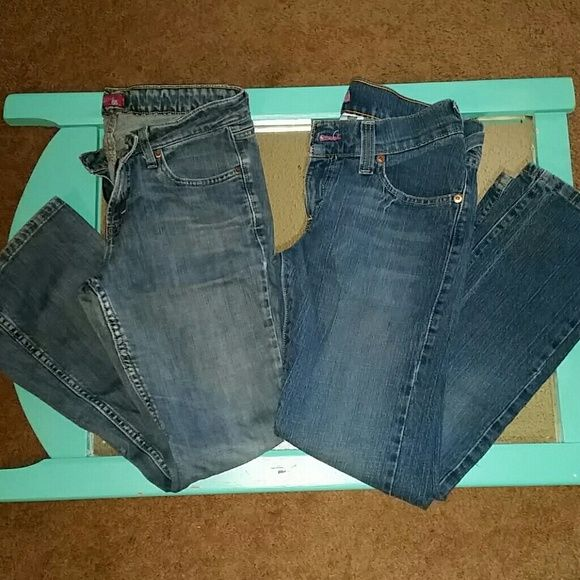 Levi Jeans Bundle Two great pair of jeans!  One worn more than the other  Levi 518 (light pair)  Size 9 Short  Some wear on the bottom of leg  No stains or holes in pockets  Levi 504 Like new  Size 9S No wear or stains  Both pair super cheap! Levi's Jeans Boot Cut